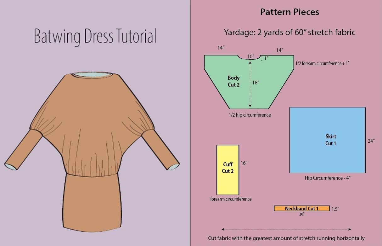 Как сшить из трикотажа блузку летучая мышь