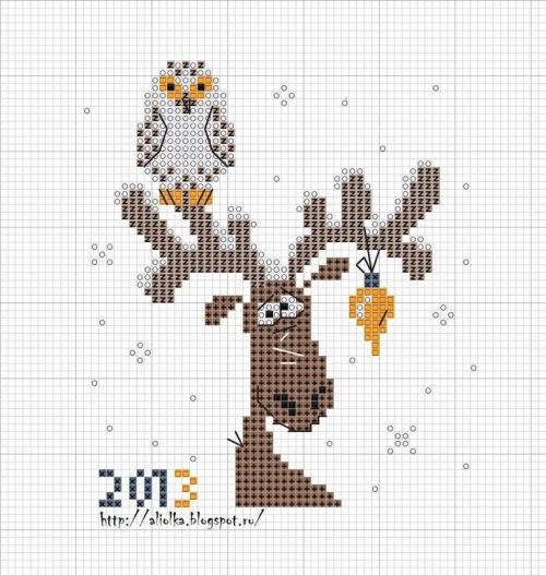 Вышивка крестом новогодних открыток и 992