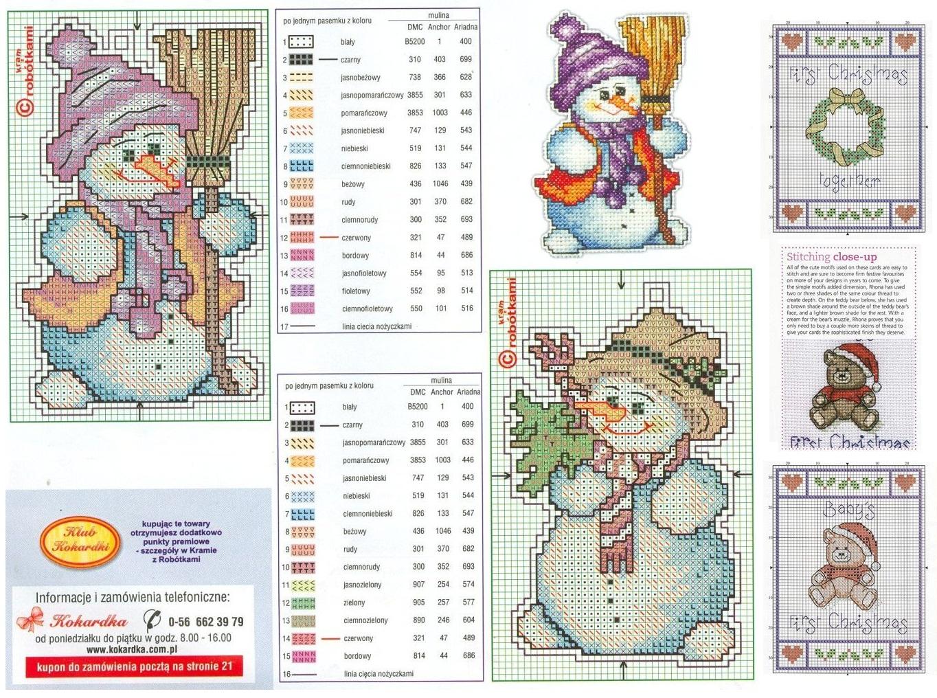 Схемы вышивки крестом миниатюры и маленькие картинки