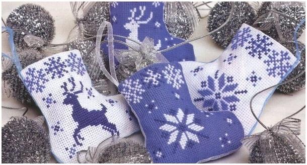 Новогодние носки схема вязания фото 93