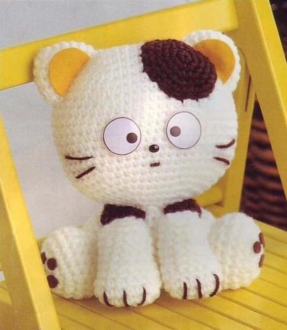 Вязание крючком игрушки амигуруми котята