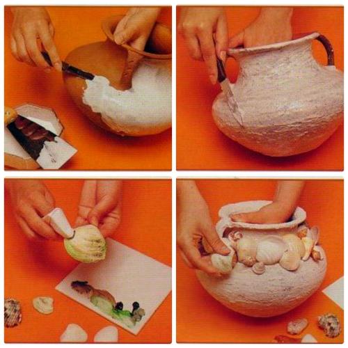 Декор глиняного горшка своими руками