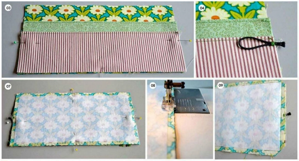 Обложка для ежедневника из ткани