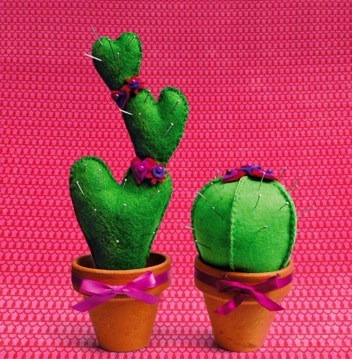 Игольница из фетра кактус своими руками