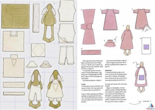 Одежда для кукол и зайцев тильда